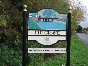 Cotgrave Town Sign - Canal Lock